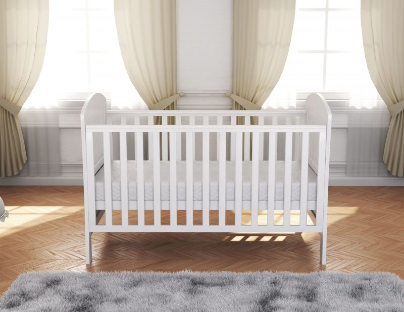 Aston Drop Side Cot Bed White Cot Bed Furniture Babymore