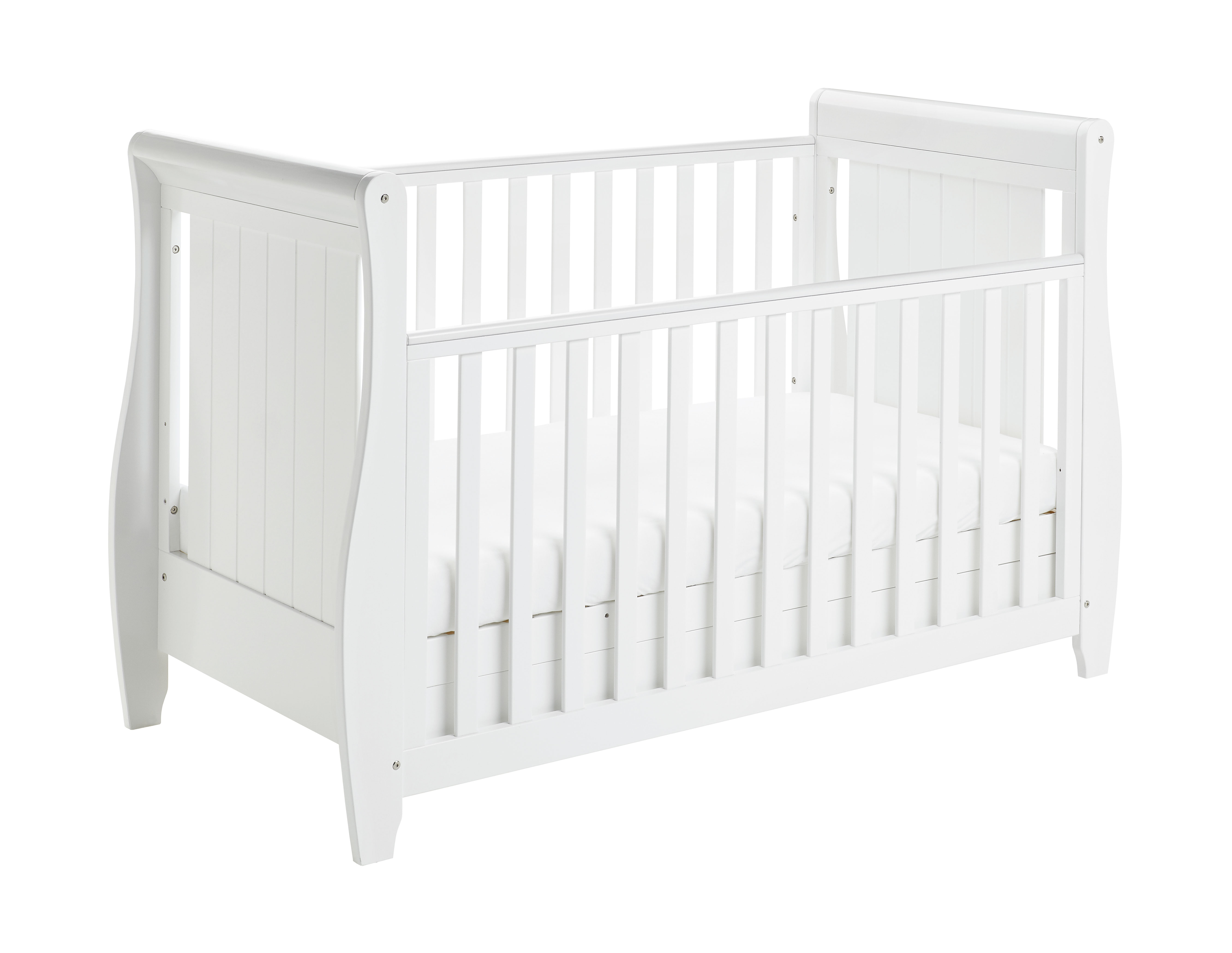 Stella Drop Side Cot Bed White Nursery Furniture