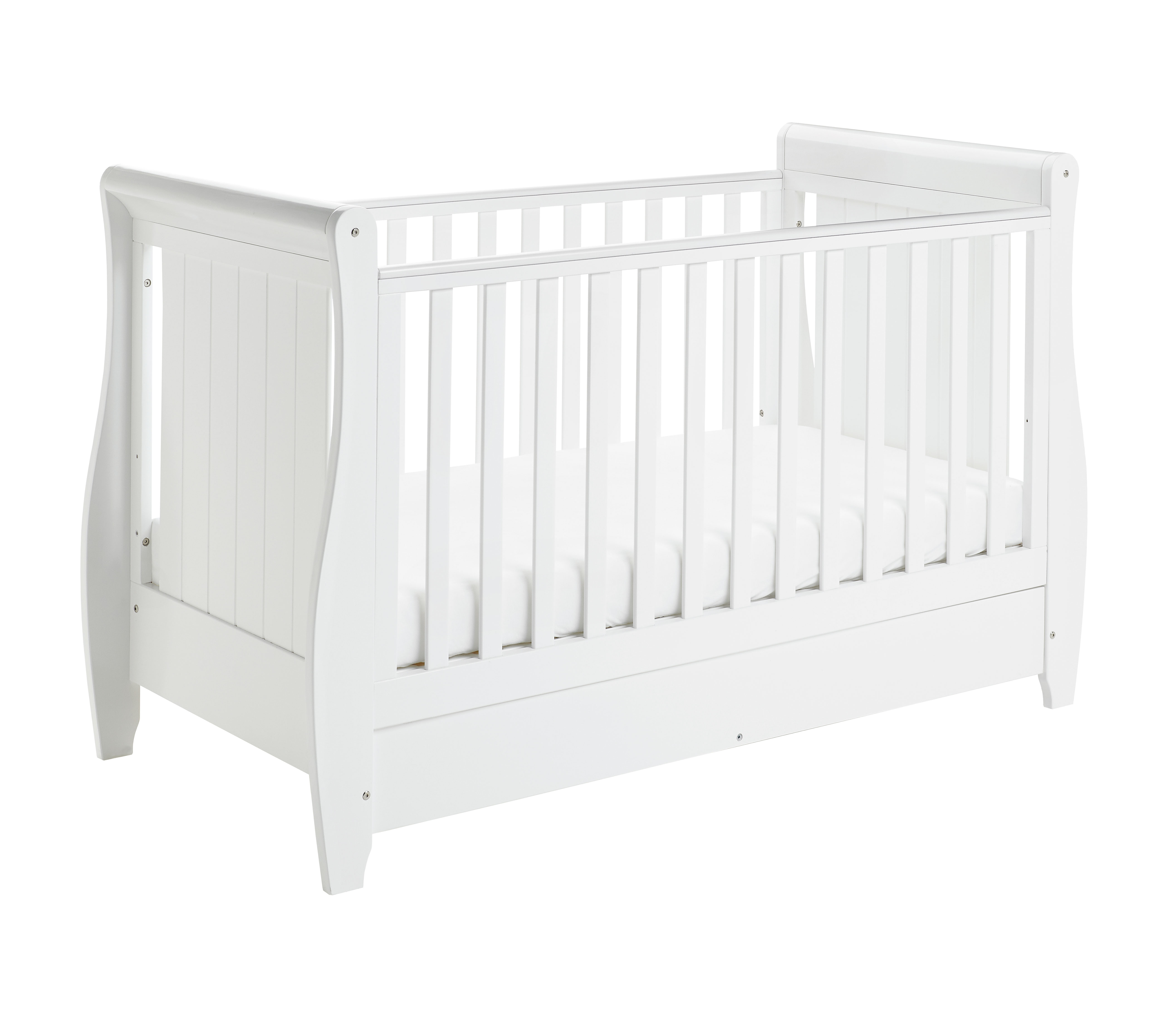 Drop Side Cot Bed White