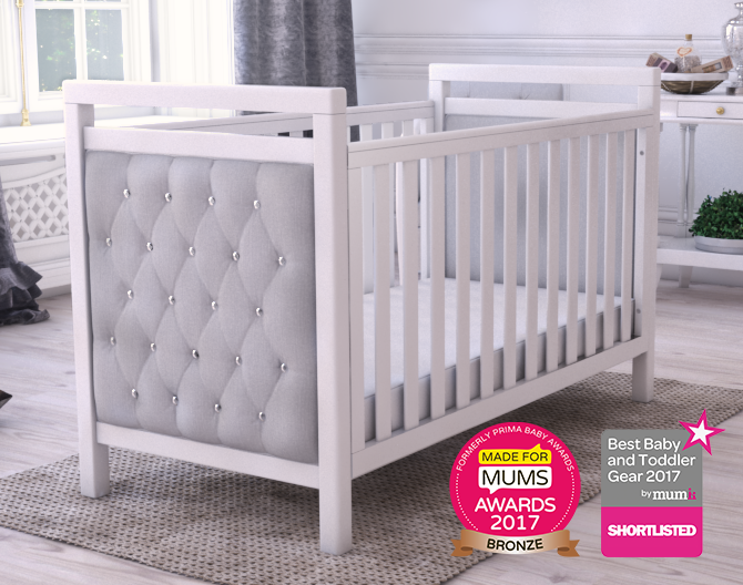 Velvet Deluxe Cot Bed White Cot Bed Babymore