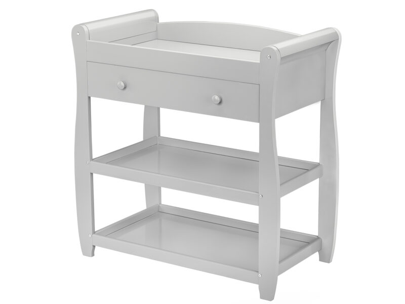 Babymore Sleigh Changer with Drawer White